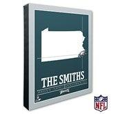 Philadelphia Eagles Personalized NFL Stadium Coordinates Canvas Print - 20230-16x20
