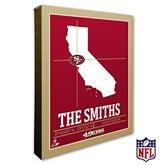 San Francisco 49ers Personalized NFL Stadium Coordinates Canvas Print - 20232-16x20