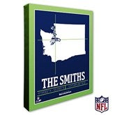 Seattle Seahawks Personalized NFL Stadium Coordinates Canvas Print - 20233-16x20