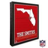 Tampa Bay Buccaneers Personalized NFL Stadium Coordinates Canvas Print - 20234-16x20