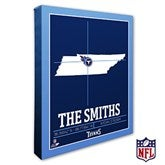 Tennessee Titans Personalized NFL Stadium Coordinates Canvas Print - 20235-16x20