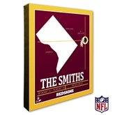 Washington Redskins Personalized NFL Stadium Coordinates Canvas Print - 20236-16x20