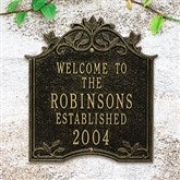 Hedra Personalized Aluminum Welcome Plaque - 20243D
