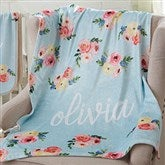 Floral Baby Personalized Fleece Blanket - 20250-F
