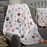 Woodland Adventure Personalized Fleece Baby Blanket - 20253-F