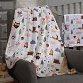 Woodland Adventure Personalized Sherpa Baby Blanket - 20253-S