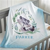 Woodland Raccoon Personalized Fleece Baby Blanket - 20256-R