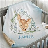 Woodland Deer Personalized Sherpa Baby Blanket - 20256-SD