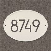 Hawthorne Personalized Modern Address Aluminum Plaque - 20259D