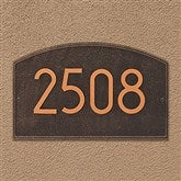 Legacy Personalized Modern Address Aluminum Plaque - 20260D