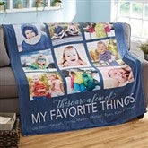 My Favorite Things Personalized Photo Blanket