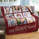 My Favorite Things Personalized 60x80 Sherpa Photo Blanket - 20264-SL