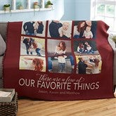 My Favorite Things Personalized Woven Photo Throw - 20264-A