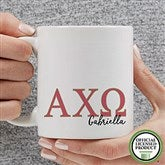 Alpha Chi Omega Personalized Greek Letter Coffee Mug 11 oz.- White - 20274-S