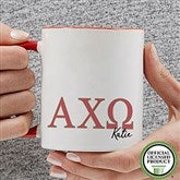 Alpha Chi Omega Personalized Greek Letter Coffee Mug 11 oz.- Red - 20274-R