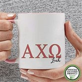 Alpha Chi Omega Personalized Greek Letter Coffee Mug 11 oz.- Pink - 20274-P