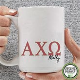 Alpha Chi Omega Personalized Greek Letter Coffee Mug 15 oz.- White - 20274-L