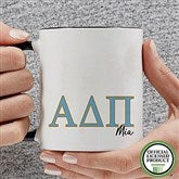 Alpha Delta Pi Personalized Greek Letter Coffee Mug 11 oz.- Black - 20275-B