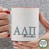 Alpha Delta Pi Personalized Greek Letter Coffee Mug 11 oz.- Red - 20275-R