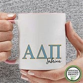 Alpha Delta Pi Personalized Greek Letter Coffee Mug 11 oz.- Pink - 20275-P