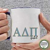 Alpha Delta Pi Personalized Greek Letter Coffee Mug 11 oz.- Blue - 20275-BL
