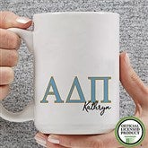 Alpha Delta Pi Personalized Greek Letter Coffee Mug 15 oz.- White - 20275-L