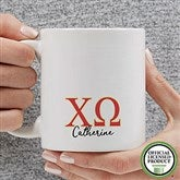 Chi Omega Personalized Greek Letter Coffee Mug 11 oz.- White - 20276-S