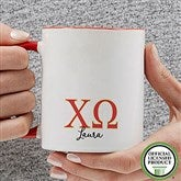 Chi Omega Personalized Greek Letter Coffee Mug 11 oz.- Red - 20276-R