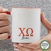 Chi Omega Personalized Greek Letter Coffee Mug 11 oz.- Red - 20276-R