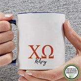 Chi Omega Personalized Greek Letter Coffee Mug 11 oz.- Blue - 20276-BL