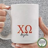 Chi Omega Personalized Greek Letter Coffee Mug 15 oz.- White - 20276-L