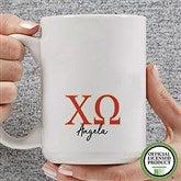 Chi Omega Personalized Greek Letter Coffee Mug 15 oz.- White - 20276-L