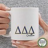 Delta Delta Delta Personalized Greek Letter Coffee Mug 11 oz.- White - 20277-S