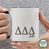 Delta Delta Delta Personalized Greek Letter Coffee Mug 11 oz.- Black - 20277-B