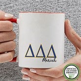 Delta Delta Delta Personalized Greek Letter Coffee Mug 11 oz.- Red - 20277-R