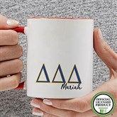 Delta Delta Delta Personalized Greek Letter Coffee Mug 11 oz.- Red - 20277-R