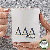 Delta Delta Delta Personalized Greek Letter Coffee Mug 11 oz.- Pink - 20277-P