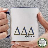 Delta Delta Delta Personalized Greek Letter Coffee Mug 11 oz.- Blue - 20277-BL