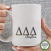 Delta Delta Delta Personalized Greek Letter Coffee Mug 15 oz.- White - 20277-L