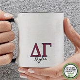 Delta Gamma Personalized Greek Letter Coffee Mug 11 oz.- Black - 20278-B