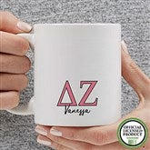 Delta Zeta Personalized Greek Letter Coffee Mug 11 oz.- White - 20279-S