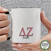 Delta Zeta Personalized Greek Letter Coffee Mug 11 oz.- Black - 20279-B