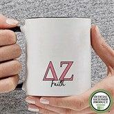 Delta Zeta Personalized Greek Letter Coffee Mug 11 oz.- Black - 20279-B