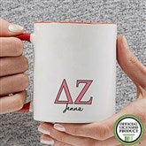 Delta Zeta Personalized Greek Letter Coffee Mug 11 oz.- Red - 20279-R