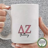 Delta Zeta Personalized Greek Letter Coffee Mug 15 oz.- White - 20279-L