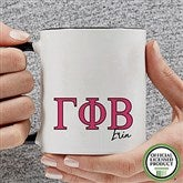 Gamma Phi Beta Personalized Greek Letter Coffee Mug 11 oz.- Black - 20280-B