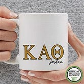 Kappa Alpha Theta Personalized Greek Letter Coffee Mug 11 oz.- White - 20281-S