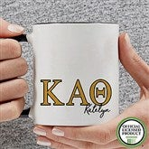 Kappa Alpha Theta Personalized Greek Letter Coffee Mug 11 oz.- Black - 20281-B