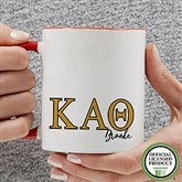 Kappa Alpha Theta Personalized Greek Letter Coffee Mug 11 oz.- Red - 20281-R