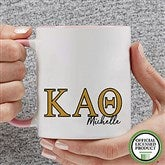 Kappa Alpha Theta Personalized Greek Letter Coffee Mug 11 oz.- Pink - 20281-P